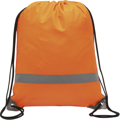 Picture of KNOCKHOLT REFLECTIVE HIGH VISIBILITY DRAWSTRING BACKPACK RUCKSACK in Orange
