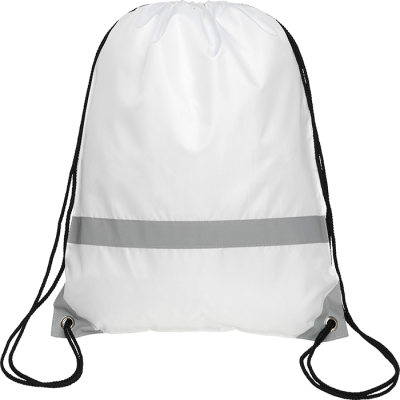 Picture of KNOCKHOLT REFLECTIVE HIGH VISIBILITY DRAWSTRING BACKPACK RUCKSACK in White