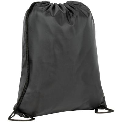 RECYCLED BIRLING 210D RPET DRAWSTRING BAG in Black