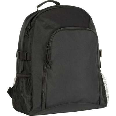 RECYCLED CHILLENDEN R-PET BUSINESS BACKPACK RUCKSACK in Black