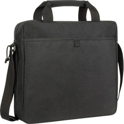 Picture of RECYCLED CHILLENDEN RPET BUSINESS BAG in Black