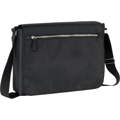 Picture of RECYCLED STAPLEHURST EXEC RPET MESSENGER BAG in Black