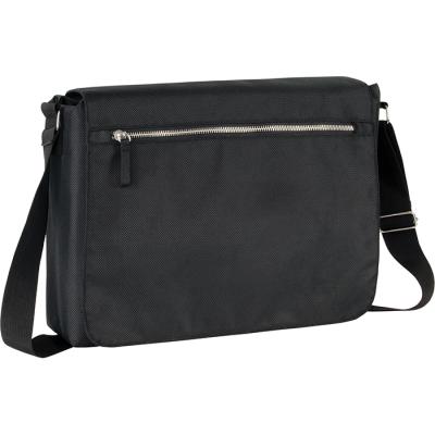 RECYCLED STAPLEHURST EXEC RPET MESSENGER BAG in Black