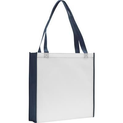 Picture of ROCHESTER TOTE BAG in White & Navy Blue