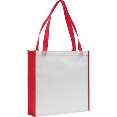 Picture of ROCHESTER TOTE BAG in White & Red