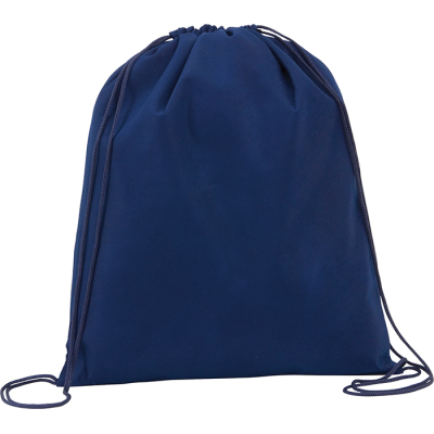 Picture of RAINHAM DRAWSTRING BACKPACK RUCKSACK in Navy Blue