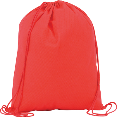 Picture of RAINHAM DRAWSTRING BACKPACK RUCKSACK in Red
