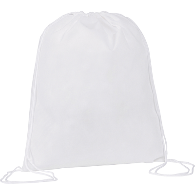 Picture of RAINHAM DRAWSTRING BACKPACK RUCKSACK in White