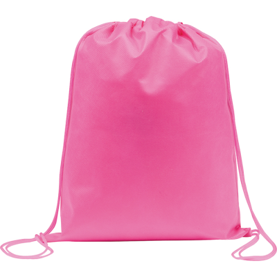 Picture of RAINHAM DRAWSTRING BACKPACK RUCKSACK in Pink