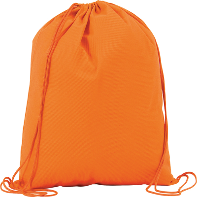 Picture of RAINHAM DRAWSTRING BACKPACK RUCKSACK in Orange