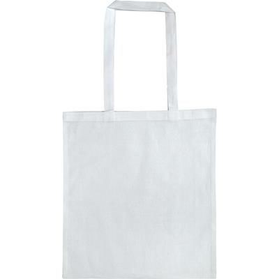 Picture of LEYBOURNE 5OZ COTTON TOTE BAG in White
