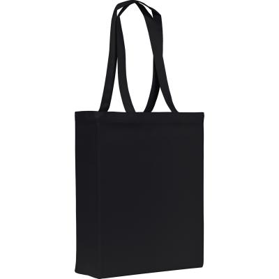 Picture of GROOMBRIDGE 10OZ COTTON CANVAS SHOPPER TOTE BAG in Black