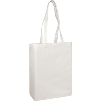 Picture of GROOMBRIDGE 10OZ COTTON CANVAS SHOPPER TOTE BAG in White