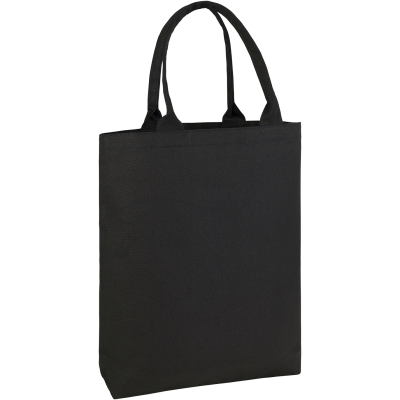 Picture of BUCKLAND 10OZ COTTON CANVAS SHOPPER TOTE BAG in Black