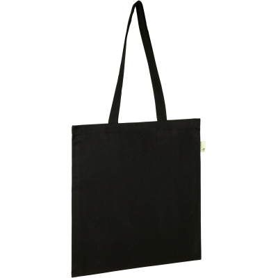 Picture of RECYCLED SEABROOK 5OZ RECYCLED COTTON TOTE in Black