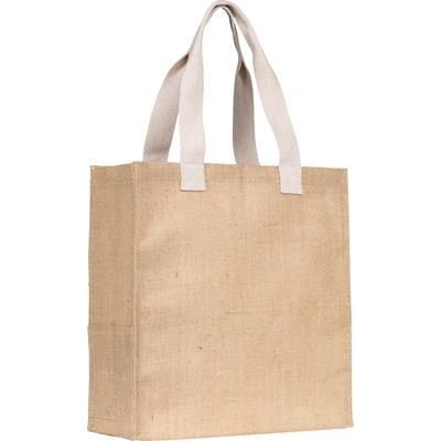 Picture of DARGATE JUTE SHOPPER TOTE BAG in Natural