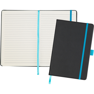 Picture of DARTFORD A5 NOTE BOOK in Black-Cyan