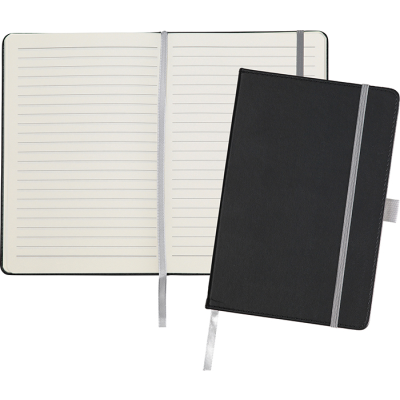 Picture of DARTFORD A5 NOTE BOOK in Black-Grey