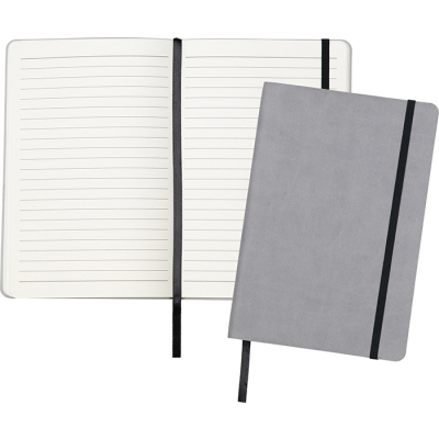 Picture of DITTON A5 FLEXI COVER NOTE BOOK in Cool Grey