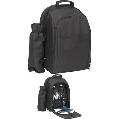 Picture of SUNSHINE 2 PERSON PICNIC BACKPACK RUCKSACK in Black