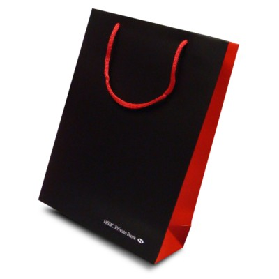 Picture of LUXURY PAPER CARRIER BAG - MEDIUM - MATT 195GSM ARTBOARD with Matt Laminate, Short Pp Rope Handles