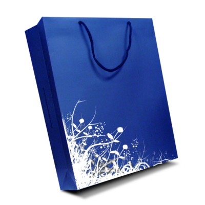 Picture of LUXURY PAPER CARRIER BAG - LARGE - MATT 195GSM ARTBOARD with Matt Laminate, Short Pp Rope Handles