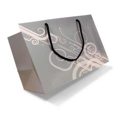Picture of LUXURY PAPER CARRIER BAG - X-LARGE - MATT 195GSM ARTBOARD with Matt Laminate, Short Pp Rope Handles