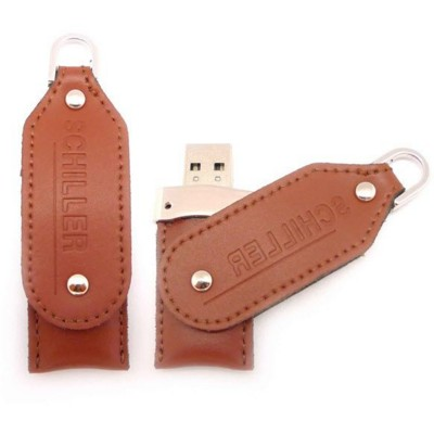 Picture of CROCODILE 04 USB FLASH DRIVE MEMORY STICK in Leather Case with Twister Cover