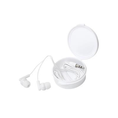 Picture of EARPHONES in Clip Case in White