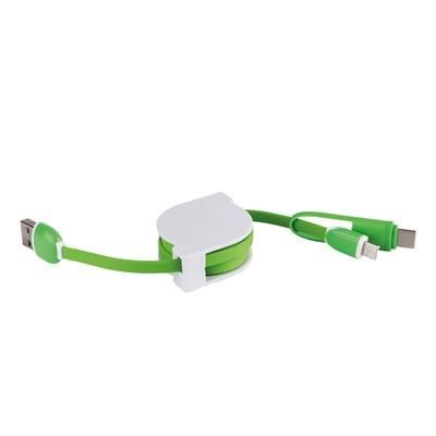 Picture of USB MULTI CHARGER in White-green