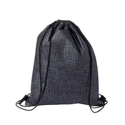 Picture of CHECKER NON-WOVEN SPORTS BAG in Black