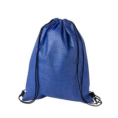Picture of CHECKER NON-WOVEN SPORTS BAG in Blue & Black