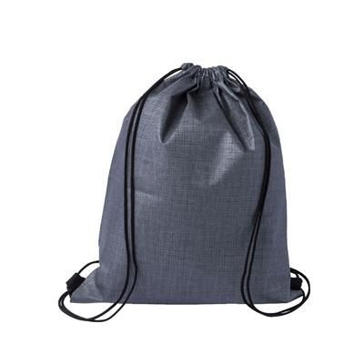 Picture of CHECKER NON-WOVEN SPORTS BAG GREY-BLACK