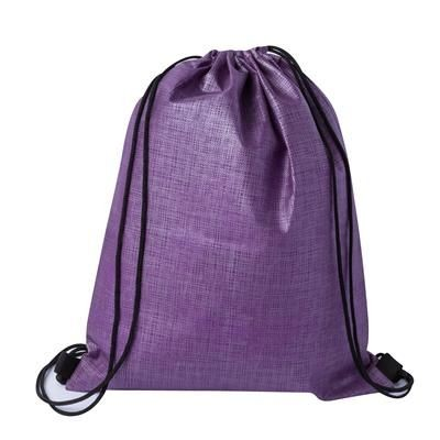 Picture of CHECKER NON-WOVEN SPORTS BAG PURPLE-BLACK