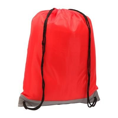 Picture of REFLECTIVE STRIPE DRAWSTRING BAG RED