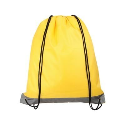 Picture of REFLECTIVE STRIPE DRAWSTRING BAG YELLOW