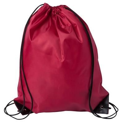 Picture of DRAWSTRING SPORTS BAG in Burgundy