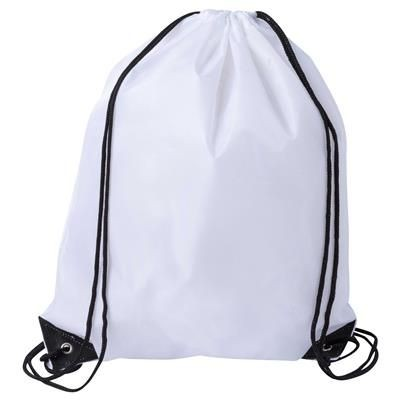 Picture of DRAWSTRING SPORTS BAG in White