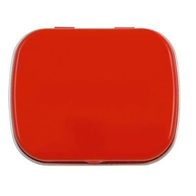 Picture of HINGED TIN OF MINTS in Red