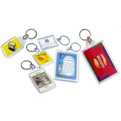 Picture of PLASTIC CLEAR TRANSPARENT KEYRING