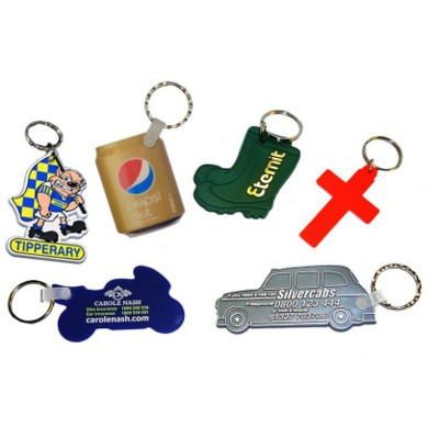Picture of PLASTIC SHAPE KEYRING