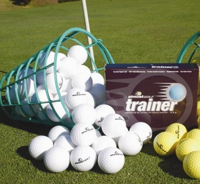 Picture of ALMOST GOLF TRAINER GOLF BALL DOZEN BOX in White