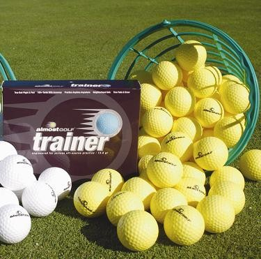 Picture of ALMOST GOLF TRAINER GOLF BALL DOZEN BOX in Yellow