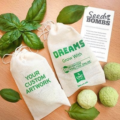 Picture of HERB SEEDS BOMBS MUSLIN BAG 3
