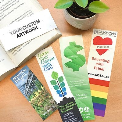 Picture of SEEDS PAPER BOOKMARK