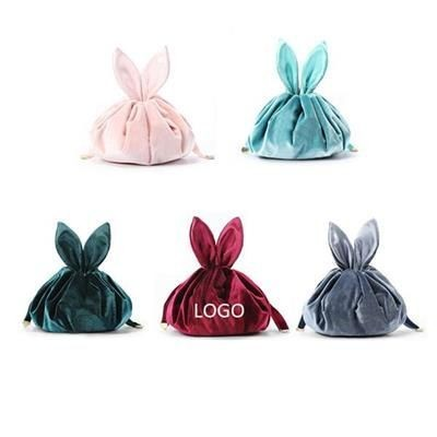 Picture of RABBIT-SHAPED DRAWSTRING COSMETICS BAG