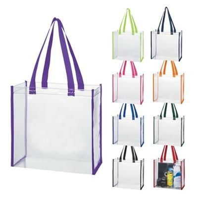 Picture of CLEAR TRANSPARENT PVC TOTE BAG