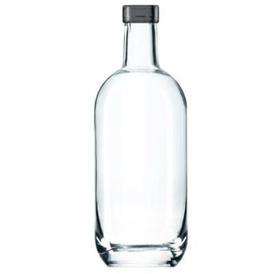 Picture of MIDI GLASS BOTTLE with Black Cap