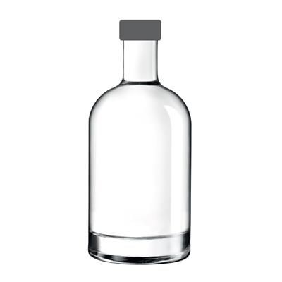 Picture of MINUIT GLASS BOTTLE with Black Cap
