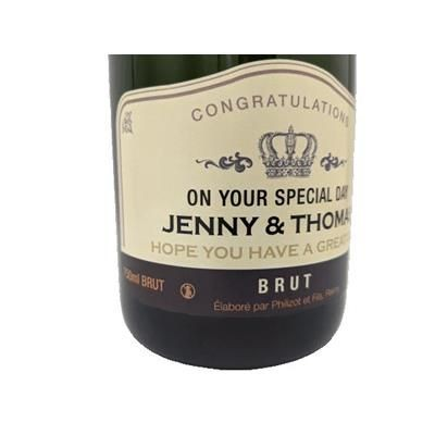 Picture of PERSONALISED CHAMPAGNE LABEL 750ML